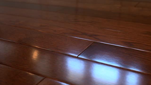 hardwood floor - wood grain stock videos & royalty-free footage