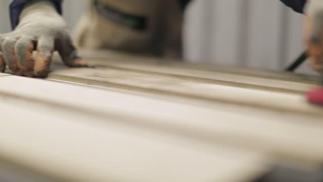 Hardwood Flooring Workshop - Polishing the Floor Panels
