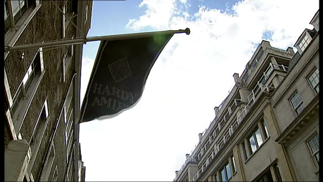 hardy amies fighting financial problems london ext good general views and close shots of hardy amies shop and studio building in savile row - savile row stock videos and b-roll footage