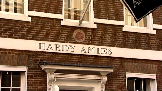 general views of hardy amies shop and savile row ext more general views of hardy amies shop and saville row including clothes in shop windows and... - savile row stock videos and b-roll footage