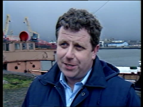 vídeos de stock e filmes b-roll de northern ireland belfast mcgloughlin intvw sof where there's life absolutely vital cms peter williamson intvw sof yes i see to say yes int ms workers... - moving activity