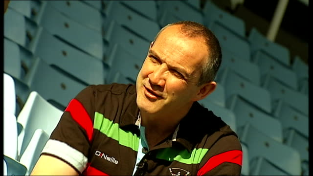 Harlequins Conor O'Shea interview on Six Nations Championship ENGLAND London Twickenham EXT General views of empty pitch and stands at Twickenham...