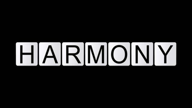 vídeos de stock, filmes e b-roll de harmonia - o alfabeto
