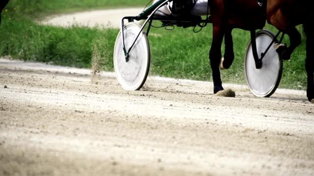 stockvideo's en b-roll-footage met hd super slow mo: harness racing with time warp - rensport