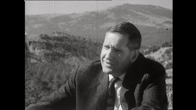 harold agnew, who flew as an observer on the hiroshima bombing mission, on working under j. robert oppenheimer's leadership at los alamos; 1965. - editorial stock videos & royalty-free footage