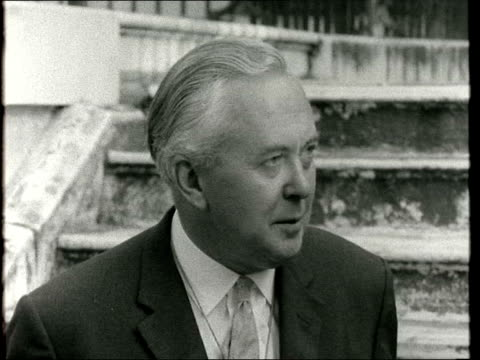 harold wilson interview on foreign policy ***also london in garden of no10 sof we are standing by our obligations we believe we have an important... - harold wilson stock-videos und b-roll-filmmaterial