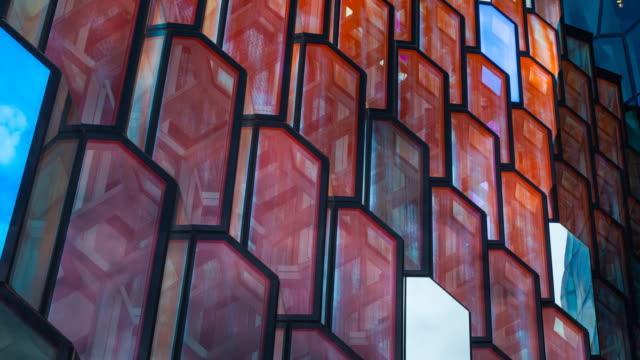 vídeos de stock e filmes b-roll de harpa concert hall and conference centre in reykjavík - eco