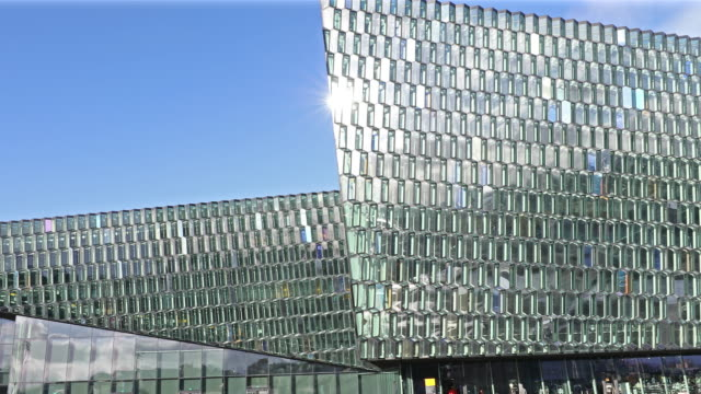 harpa concert hall reykjavik - reykjavik stock videos and b-roll footage