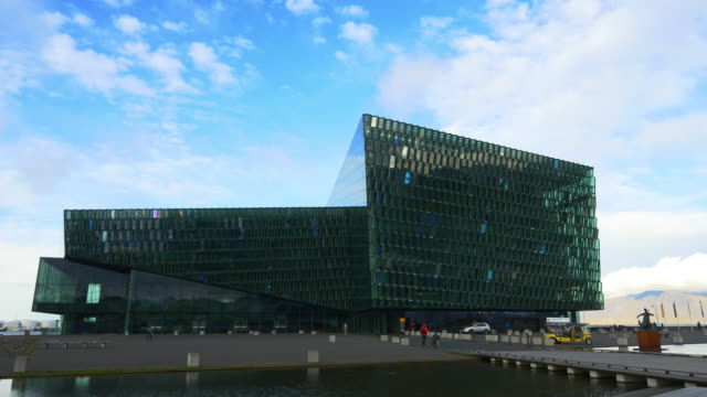 t/l harpa reykjavik - concert hall and conference centre - reykjavik stock videos and b-roll footage