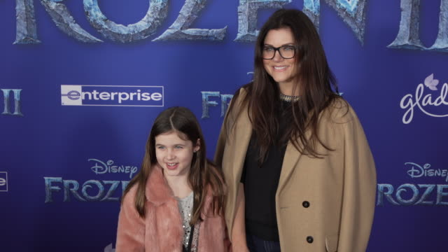 harper renn smith and tiffani thiessen at the frozen ii world premiere at dolby theatre on november 07 2019 in hollywood california - tiffani thiessen stock videos & royalty-free footage