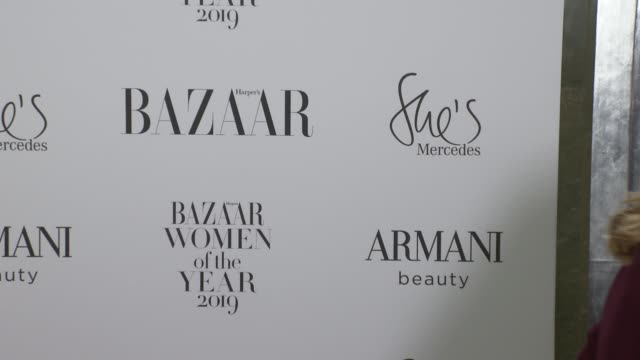 harper's bazaar women of the year awards 2019 red carpet arrivals england london caridge's harper's bazaar women of the year awards 2019 int sophie... - dahl stock videos and b-roll footage