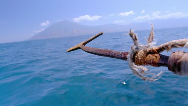 harpoon and the seascape / indonesia - arpone video stock e b–roll