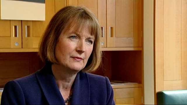 harriet harman hits back at daily mail claims about past link to paedophile rights group; london: andrew pierce interview sot int harriet harman mp... - daily mail stock videos & royalty-free footage