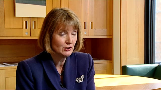 harriet harman hits back at daily mail claims about past link to paedophile rights group london int harriet harman mp interview sot - pedophilia stock videos and b-roll footage