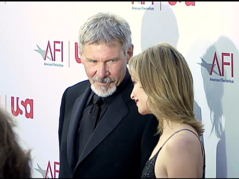 Harrison Ford and Calista Flockhart at the 34th AFI Life Achievement Award A Tribute To Sean Connery at the Kodak Theatre in Hollywood California on...