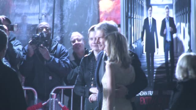 harrison ford and calista flockhart at the premiere of 'extraordinary measures' at the celebrity sightings in los angeles at los angeles ca. - calista flockhart stock-videos und b-roll-filmmaterial
