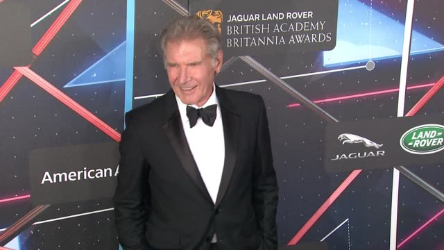 harrison ford at 2015 jaguar land rover british academy britannia awards presented by american airlines in los angeles ca - land rover stock videos and b-roll footage