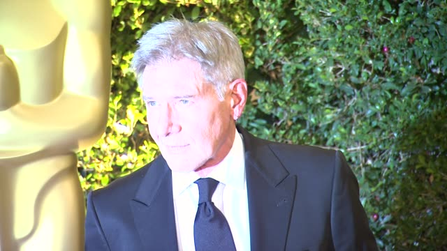 harrison ford at academy of motion picture arts and sciences' governors awards in hollywood ca on - academy of motion picture arts and sciences stock videos & royalty-free footage