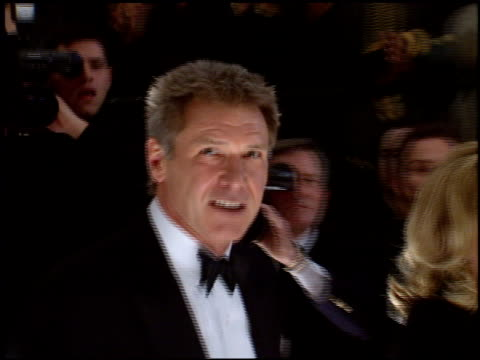 stockvideo's en b-roll-footage met harrison ford at the 1998 people's choice awards arrivals at barker hanger in santa monica california on january 11 1998 - 1998