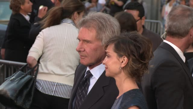 harrison ford, calista flockhart at 42 los angeles premiere 4/9/2013 in hollywood, ca. - calista flockhart stock-videos und b-roll-filmmaterial