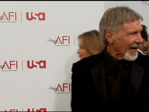 harrison ford comments on his favorite sean connery movie at the 34th afi life achievement award: a tribute to sean connery at the kodak theatre in... - afi life achievement award stock videos & royalty-free footage