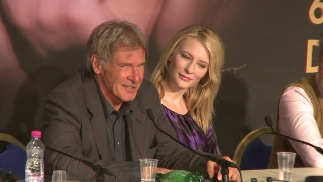 Harrison Ford on Steven Spielberg directing the film at the 2008 Cannes Film Festival 'Indiana Jones and the Kingdom of the Crystal Skull' press...