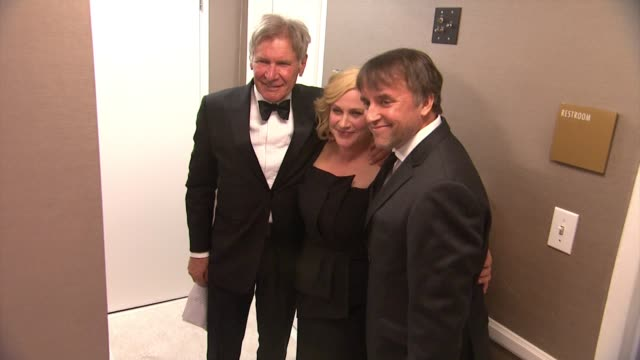 harrison ford, patricia arquette, richard linklater at the 17th costume designers guild awards in los angeles, ca 2/17/15 - patricia arquette stock videos & royalty-free footage