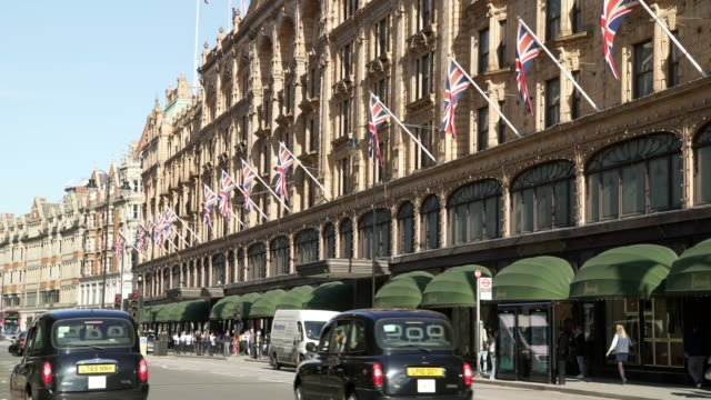 harrods department store in london brompton road - brexit stock videos & royalty-free footage