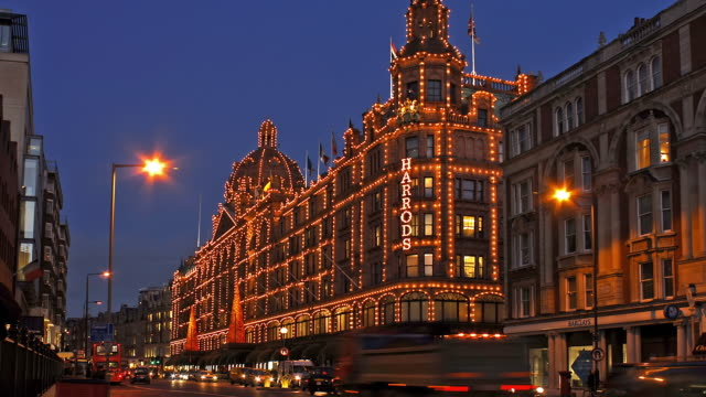 harrods department store london - flag stock videos & royalty-free footage