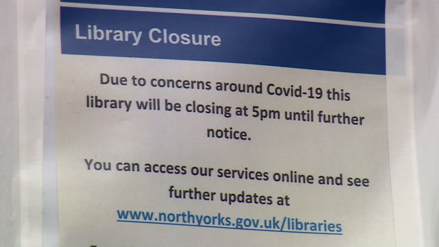 harrogate library closed due to coronavirus - library stock videos & royalty-free footage