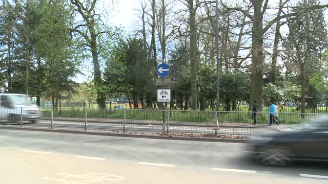 harrow council to scrap low traffic neighbourhoods; england: london: harrow: ext gv sign 'dual carriageway' / 'cycle lane' gv cycle lane marked on... - politics stock-videos und b-roll-filmmaterial