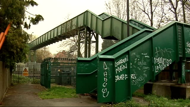 released; england: london: harrow: ext railway footbridge and car park - harrow stock videos & royalty-free footage