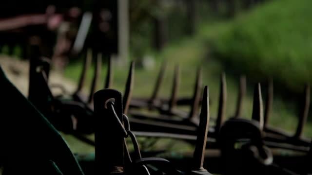 harrow - stock footage - harrow agricultural equipment stock videos & royalty-free footage