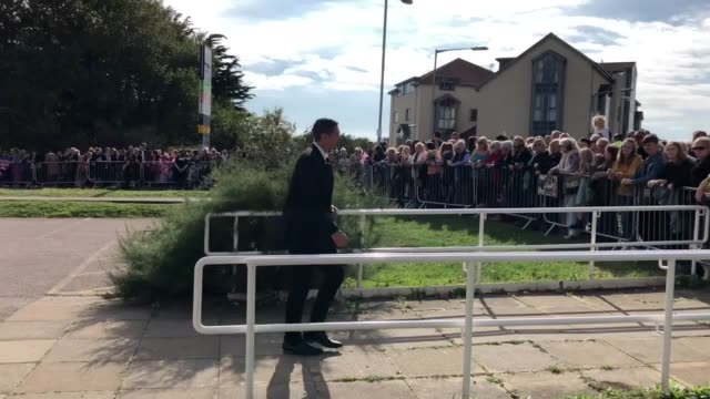 harry and meghan arrive in the town of peacehaven as they embark on their first joint official tour of sussex - harry meghan tour stock videos and b-roll footage
