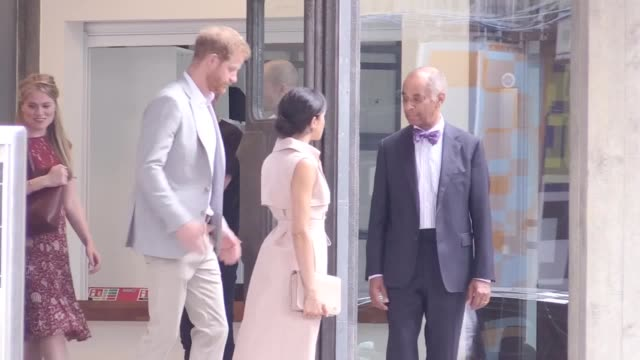 harry and meghan leave the nelson mandela centenary exhibition at the southbank centre in london - meghan harry stock videos and b-roll footage