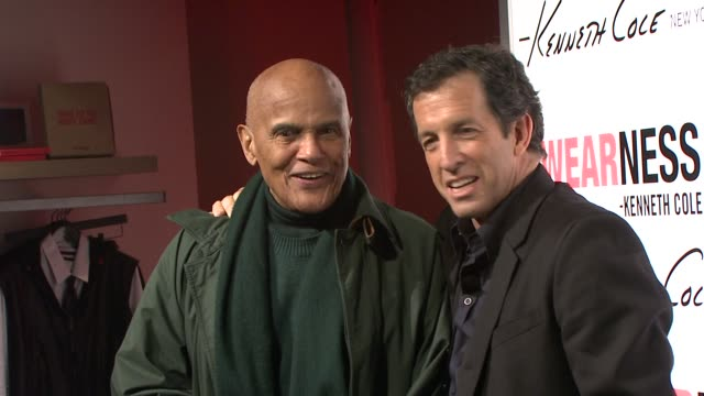 harry belafonte and kenneth cole at the kenneth cole hosts book launch for 'awearness: inspiring stories about how to make a difference' at new york... - harry belafonte stock videos & royalty-free footage