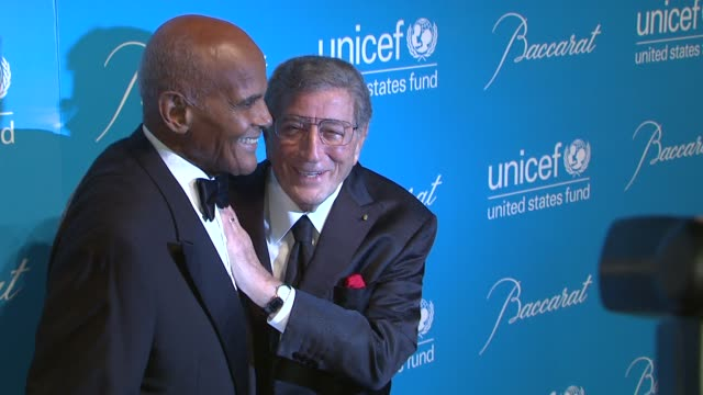 harry belafonte and tony bennett at 2012 unicef snowflake ball presented by baccarat at cipriani 42nd street on november 27, 2012 in new york, new... - harry belafonte stock videos & royalty-free footage