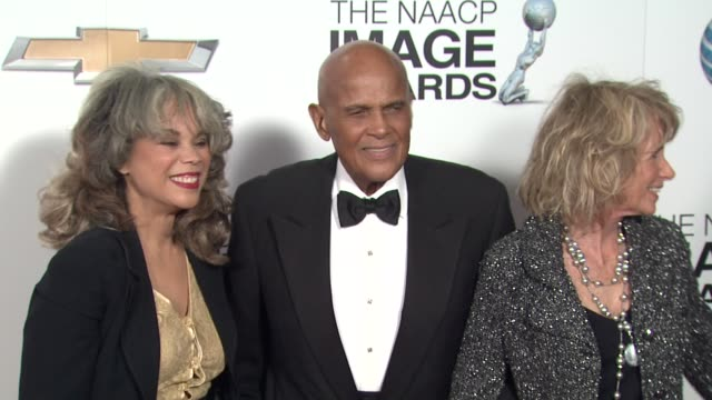 harry belafonte at 44th naacp image awards - arrivals on 2/1/13 in los angeles, ca . - harry belafonte stock videos & royalty-free footage