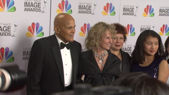 harry belafonte at the 43rd naacp image awards - arrivals on 2/17/12 in los angeles, ca - harry belafonte stock videos & royalty-free footage