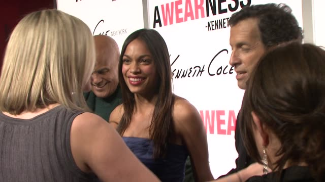 harry belafonte kenneth cole and rosario dawson at the kenneth cole hosts book launch for 'awearness inspiring stories about how to make a... - dawson city stock videos and b-roll footage