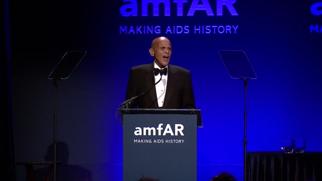 harry belafonte on the importance of amfar - amfar new york gala 2014 at cipriani, wall street on february 5th, 2014 in new york city. - harry belafonte stock videos & royalty-free footage