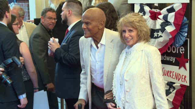 Harry Belafonte Pamela Frank at AwardWinning Filmmaker Michael Moore Celebrates His Broadway Opening Night in The Terms of My Surrender at Belasco...