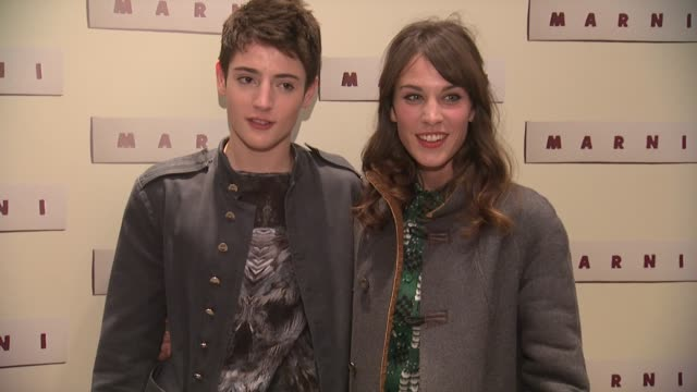 harry brant and alexa chung at marni fragrance launch at tbd on february 05 2013 in new york new york - marni stock videos & royalty-free footage