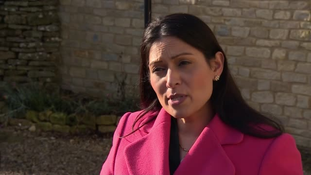 dunn family meet home secretary as extradition process begins england northamptonshire ext priti patel mp interview sot re meeting with family of... - home secretary stock videos & royalty-free footage