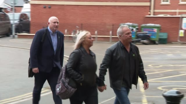 refuses to extradite anne sacoolas; england: ext charlotte charles arriving with her husband and radd seiger - adult stock videos & royalty-free footage