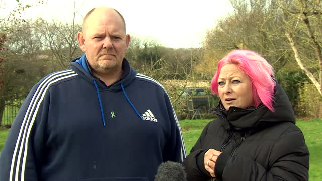 harry dunn's parents tim dunn and charlotte charles saying anne sacoolas needs to return to the uk and face justice for his death - traffic accident stock videos & royalty-free footage