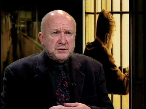 itn harry fletcher interviewed sot possible that culture of probation will be lost will be seen as punitive organisations - probation stock videos & royalty-free footage