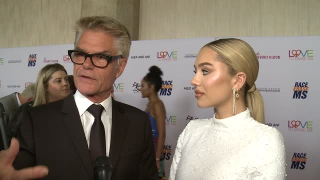 INTERVIEW Harry Hamlin and Delilah Hamlin on the event and what Race to Erase MS does to change lives at the 26th Annual Race to Erase MS in Los...