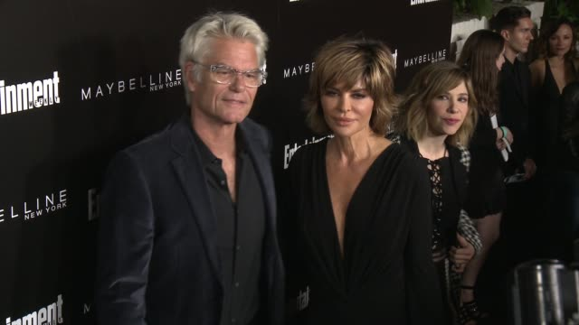 Harry Hamlin and Lisa Rinna at 2016 Entertainment Weekly Screen Actors Guild Party at Chateau Marmont on January 29 2016 in Los Angeles California