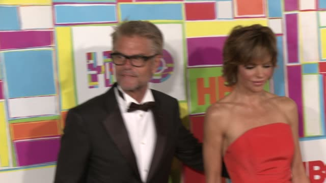harry hamlin and lisa rinna at hbo's official 2014 emmy after party at the plaza at the pacific design center on august 25 2014 in los angeles... - harry hamlin stock videos and b-roll footage